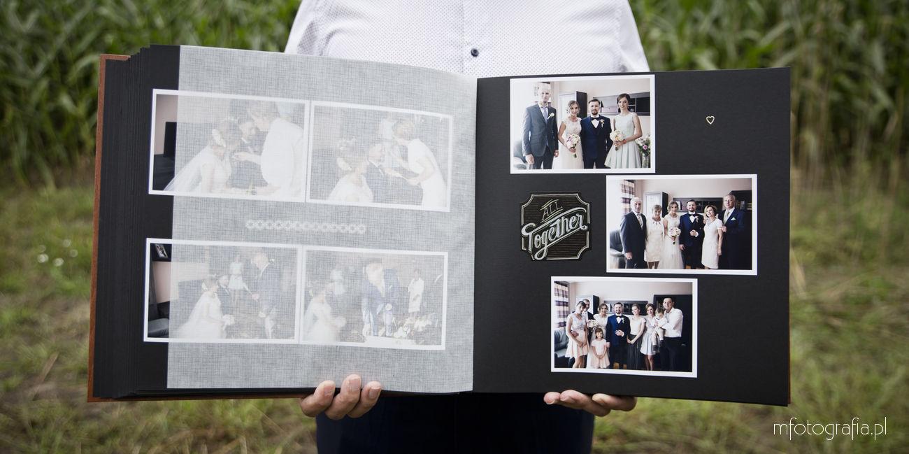 tradycyjne albumy ślubne w drewnianej oprawie