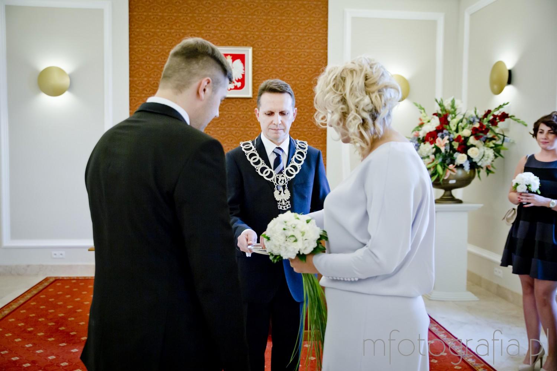zdjęcia przysięgi ślubnej w Pałacu Ślubów w Warszawie