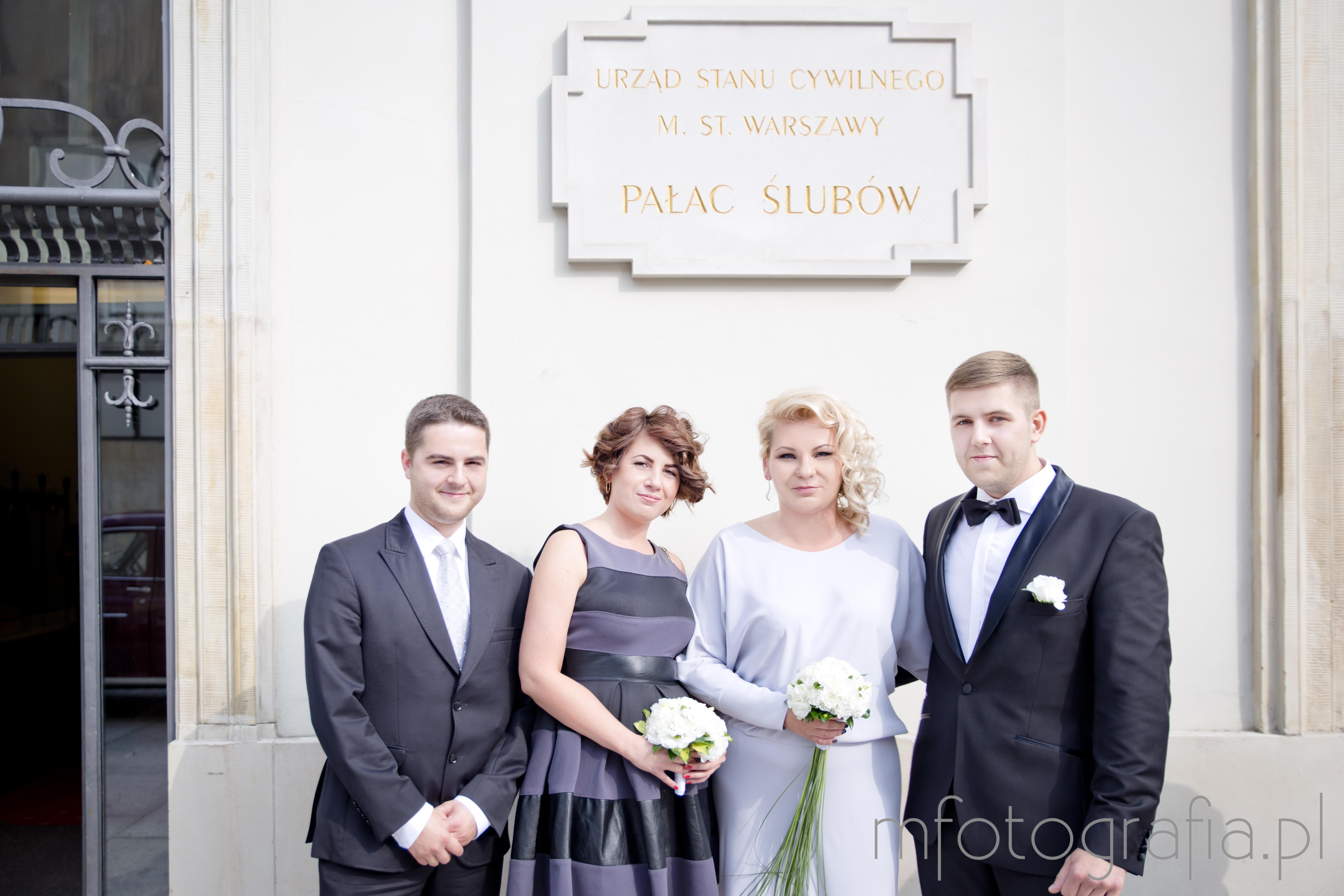 6588099307 reportaż ze ślubu cywilnego w Pałacu Ślubów