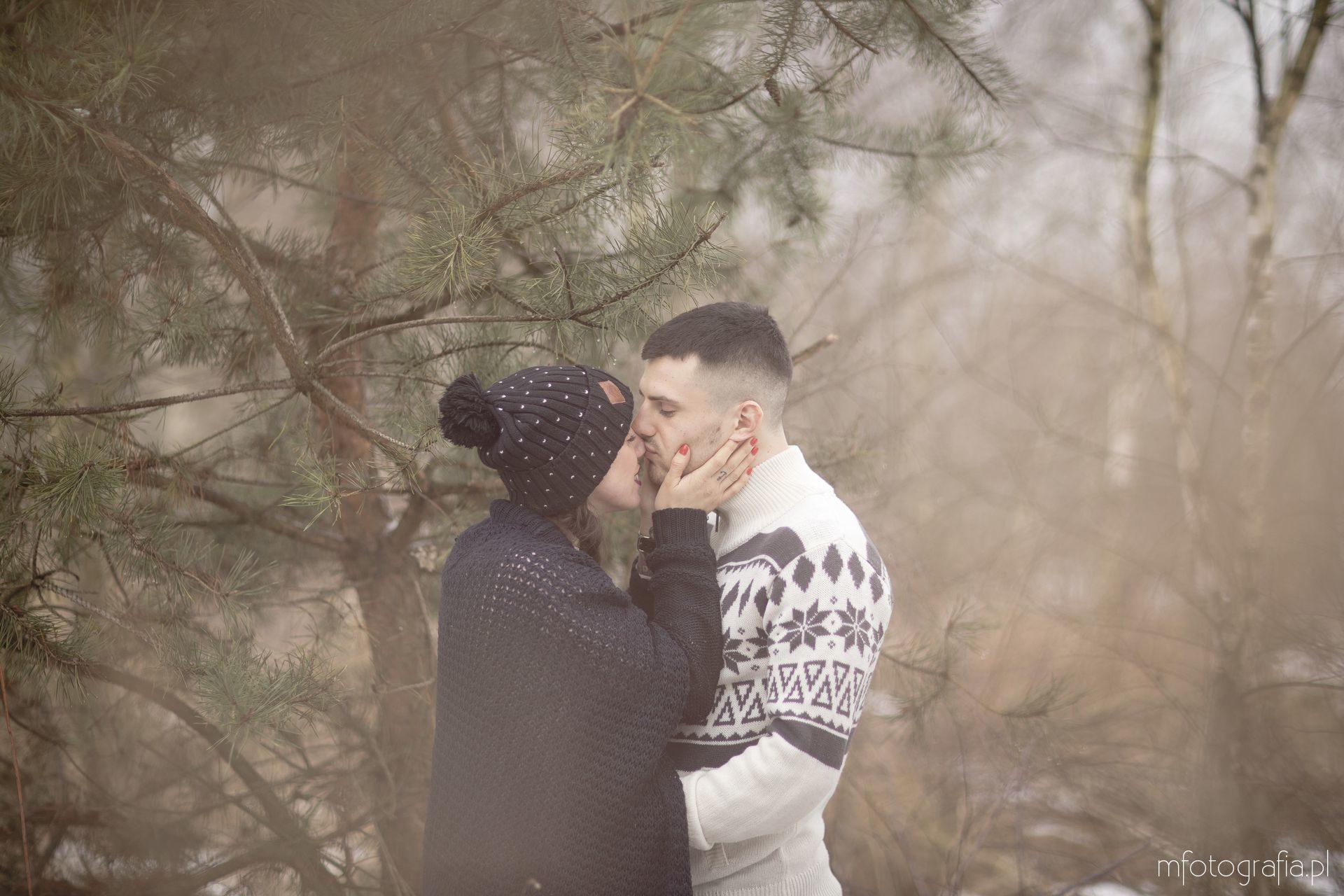 sesja zimowa dla pary