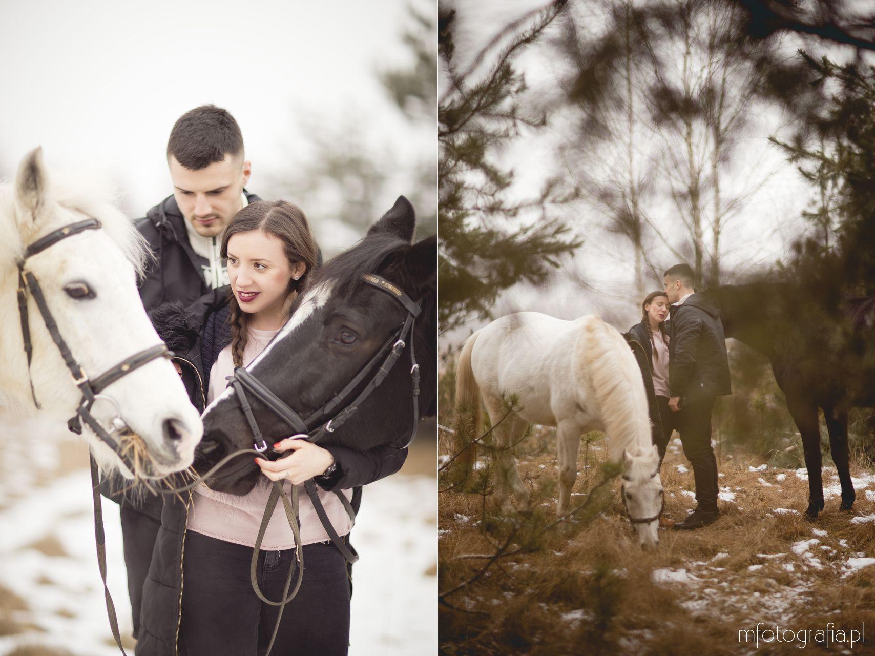 zdjęcia zakochanych par w lesie