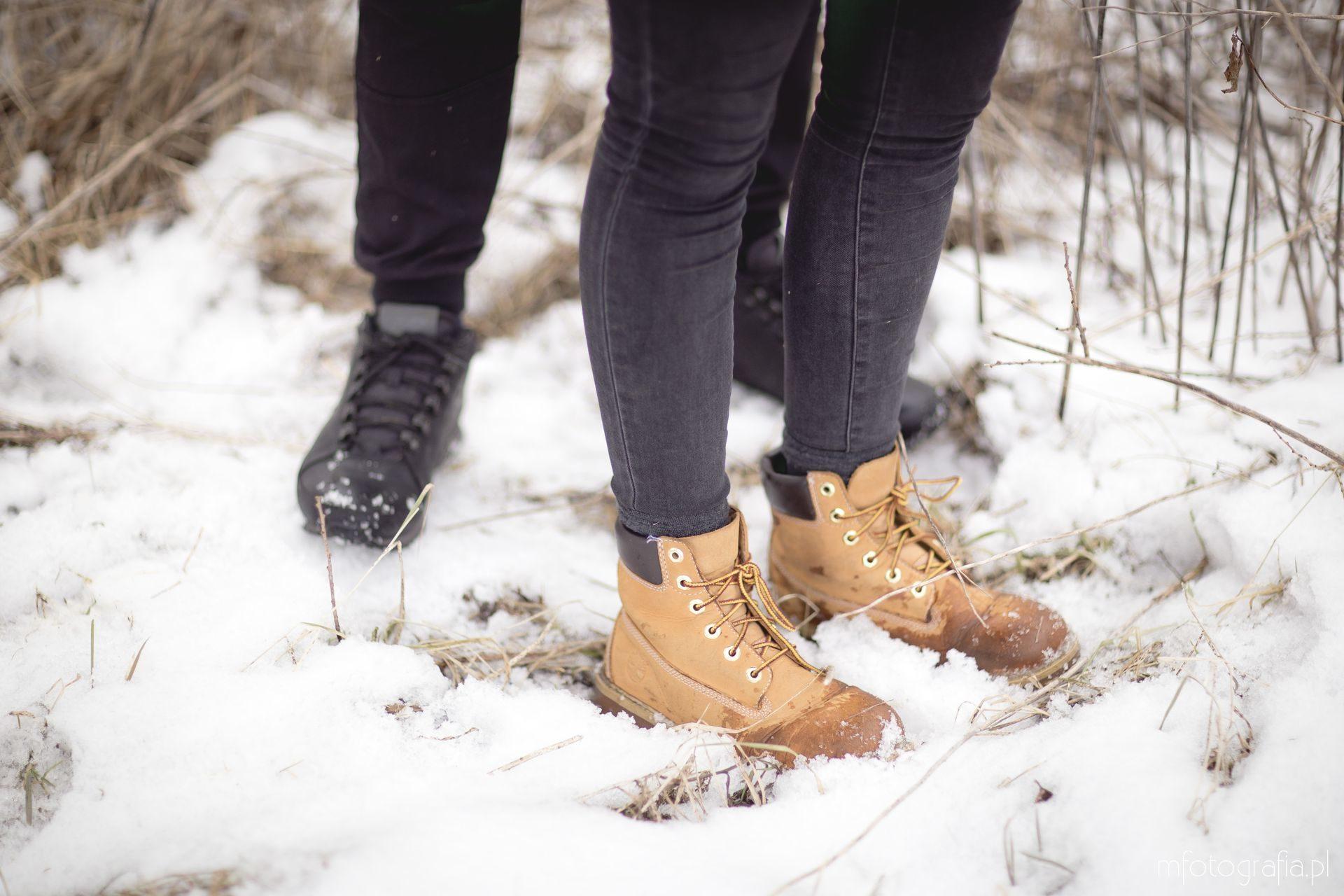 zimowe buty sesja