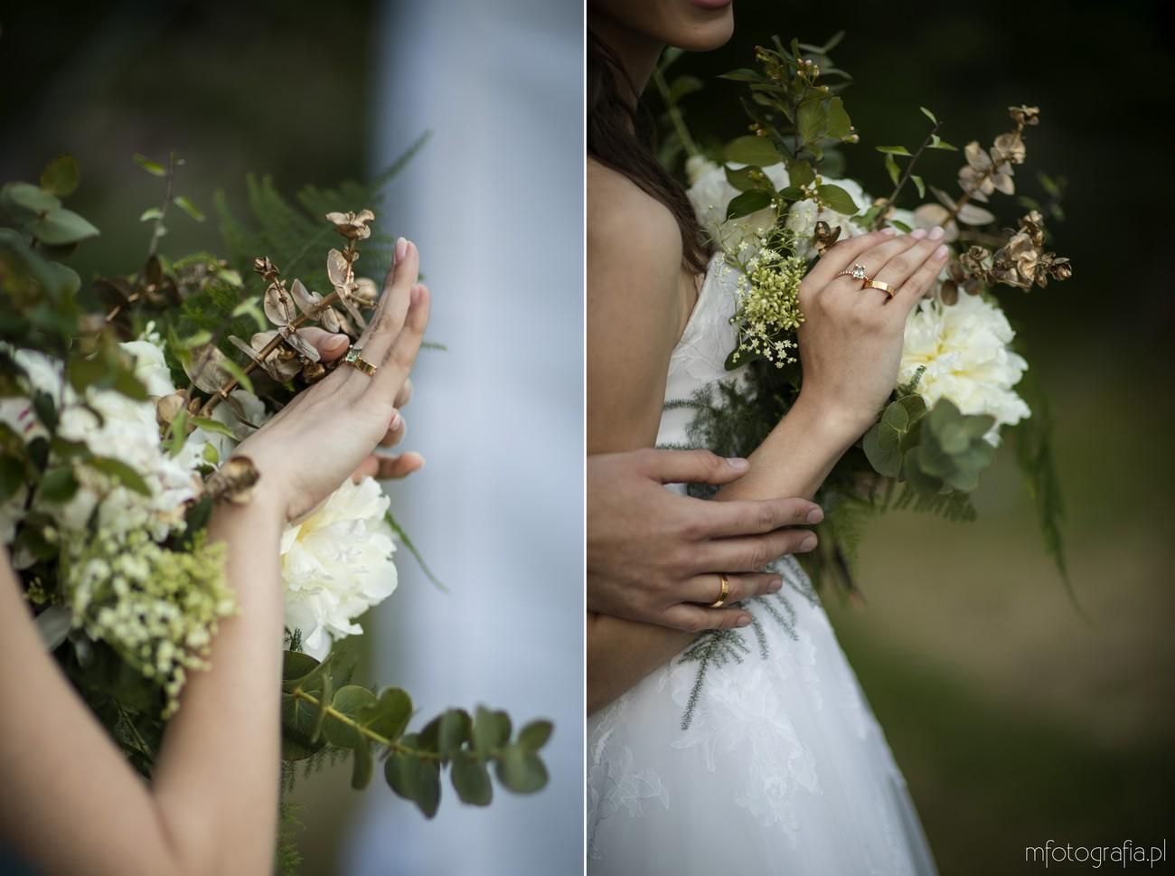 dodatki na zielonym ślubie boho