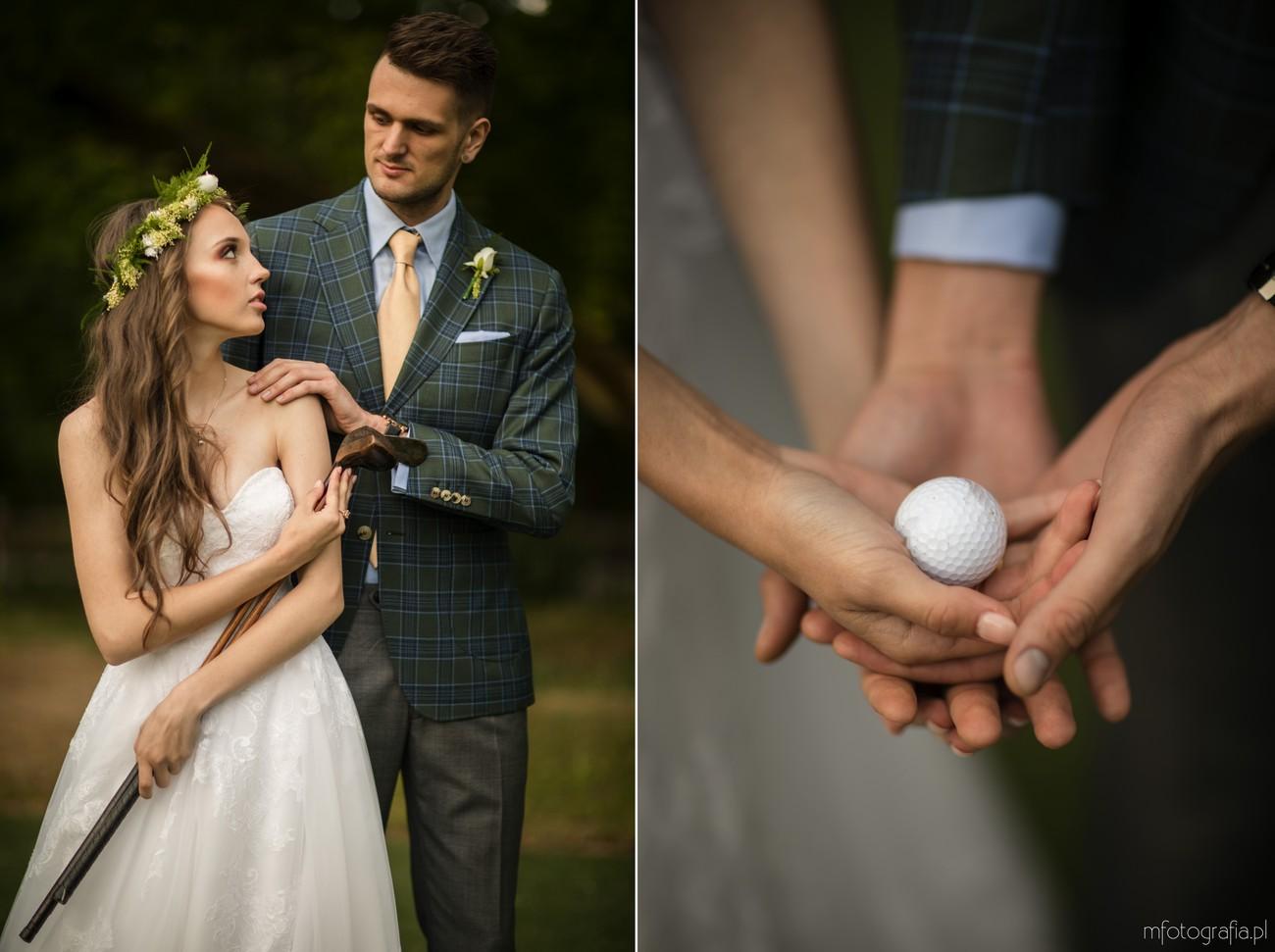 zielony ślub na polu golfowym