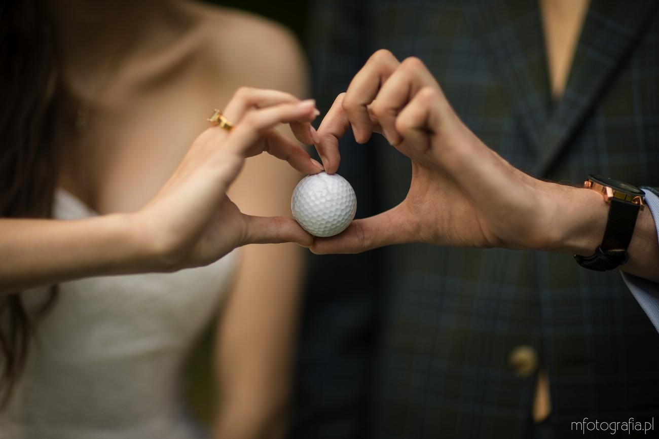 golf na ślubie