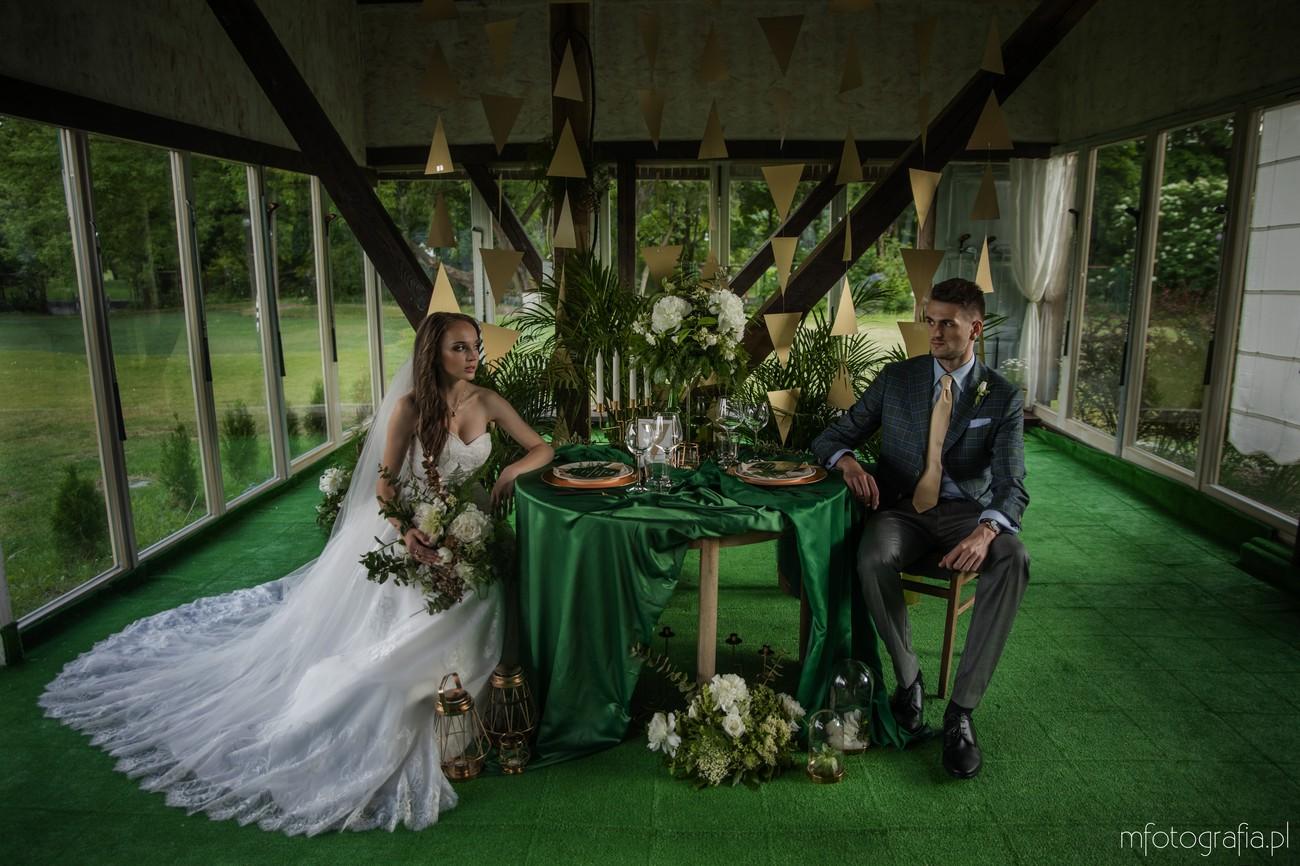 sesja stylizowana elegancki ślub