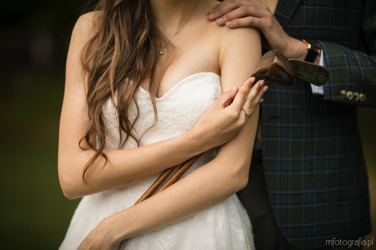 motyw golfowy na ślubie