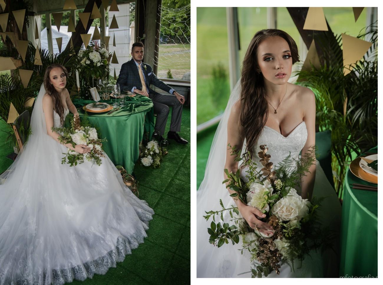 zielony ślub stylizacja pani modej