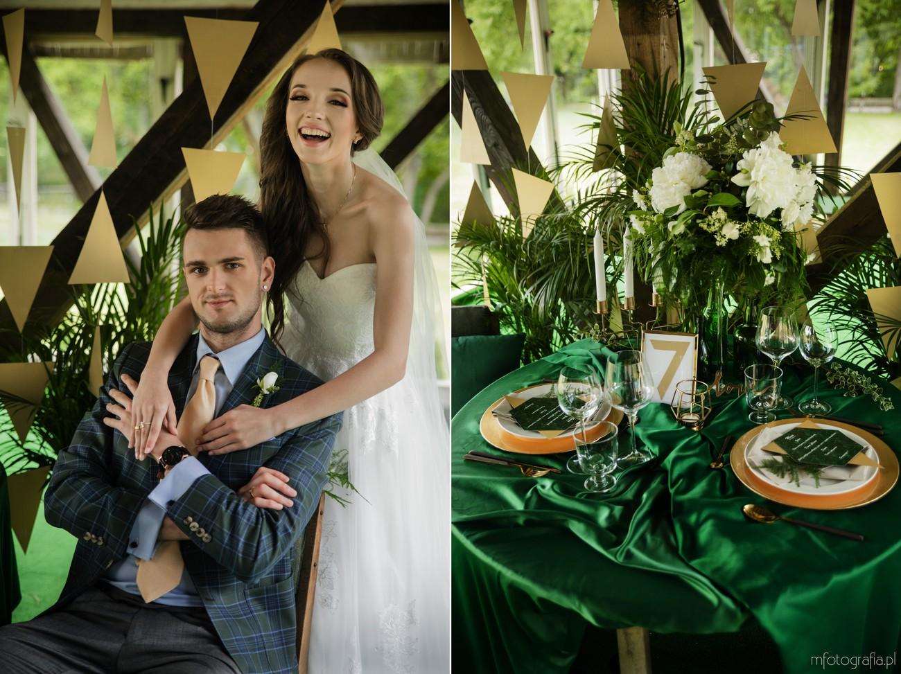 zielony ślub dekoracje