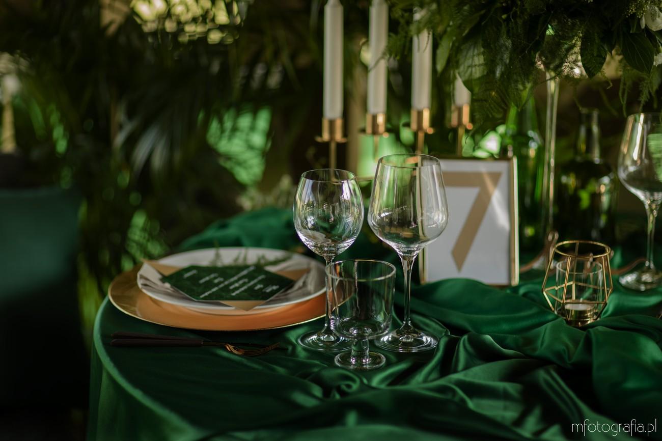 zielone inspiracje na ślub