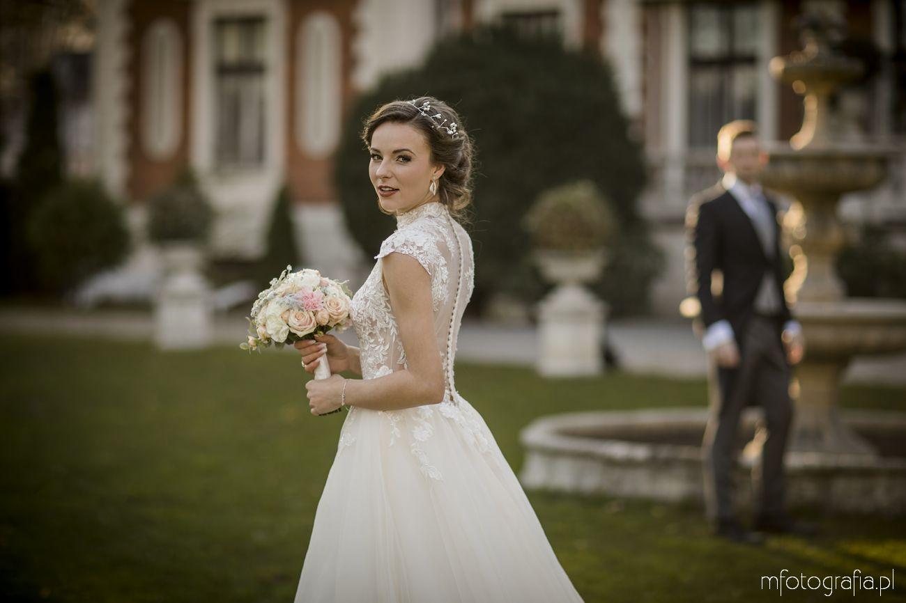 sesja ślubna w stylu angielskim i pałacowym