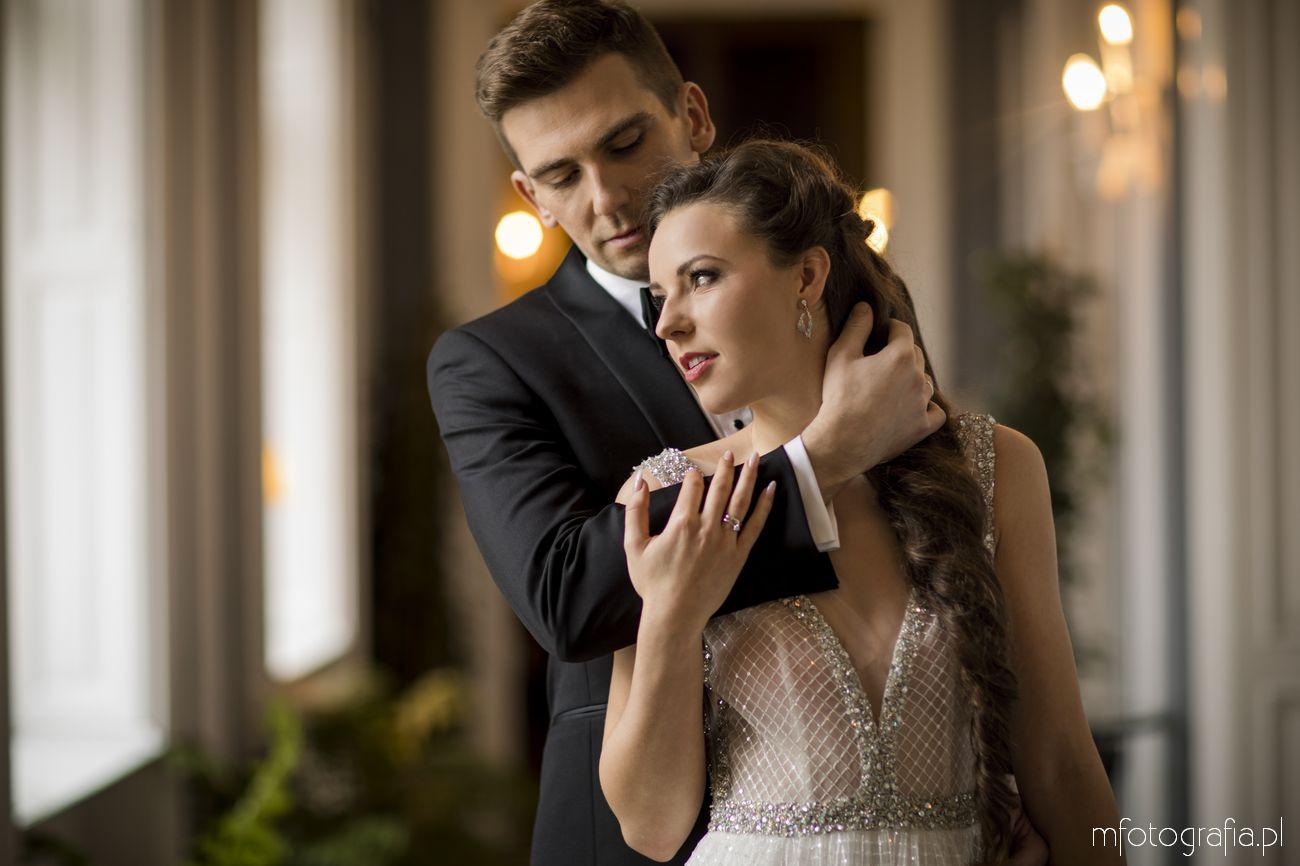 elegancka sesja ślubna glamour w Endorfinie