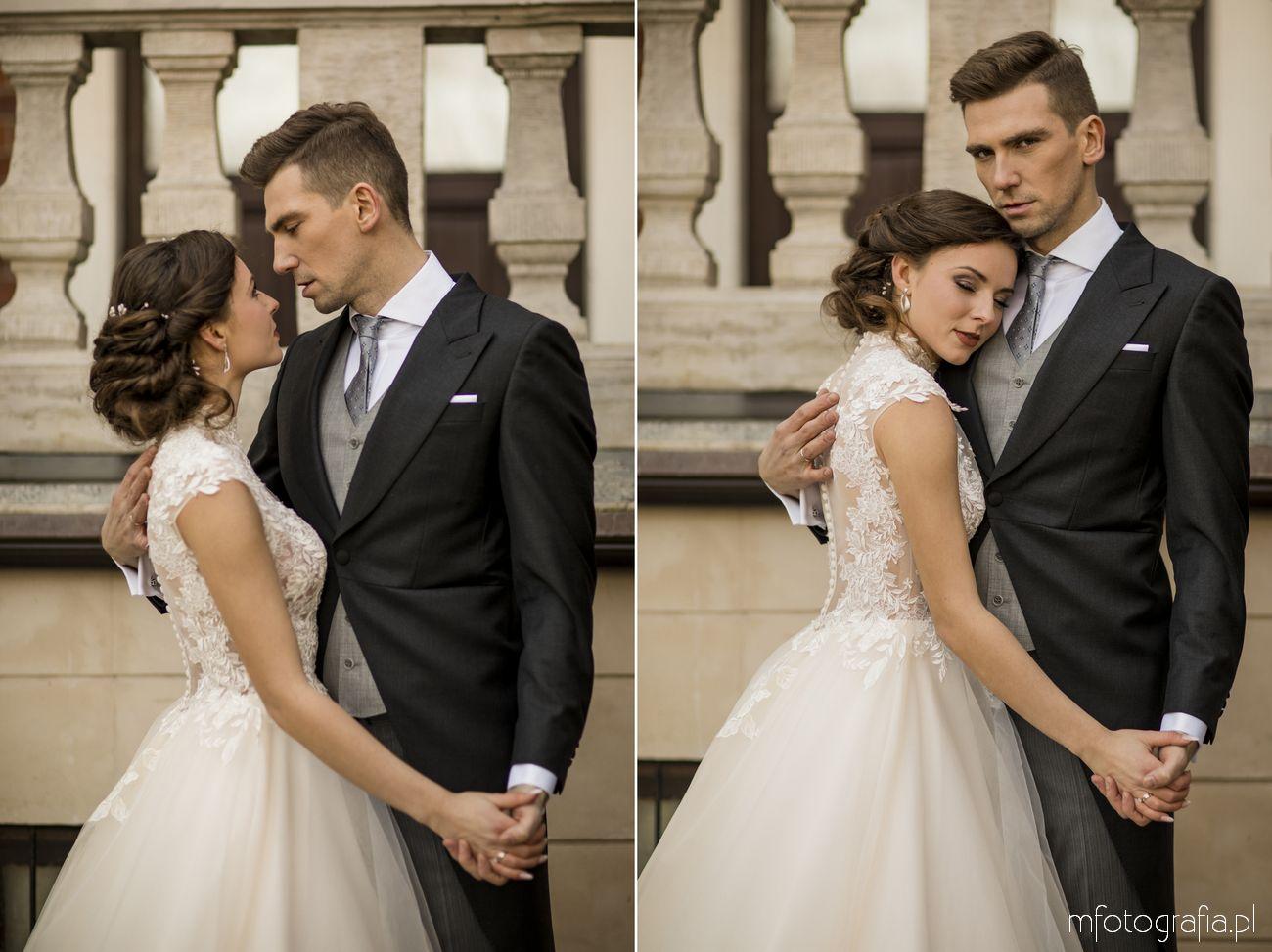 Sesja ślubna przed pałacem w Endorfina Foksal