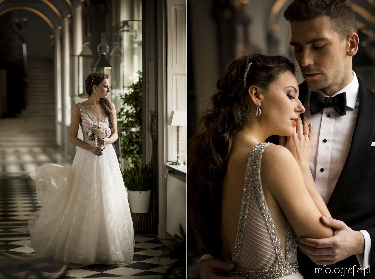 Zimowy ślub w pałacu Zamoyskich Endorfina na warszawskim foksalu