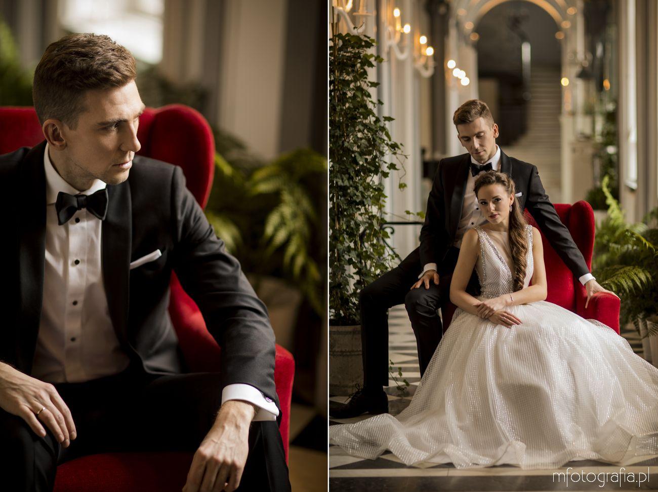 zimowy ślub w pałacu Endorfina