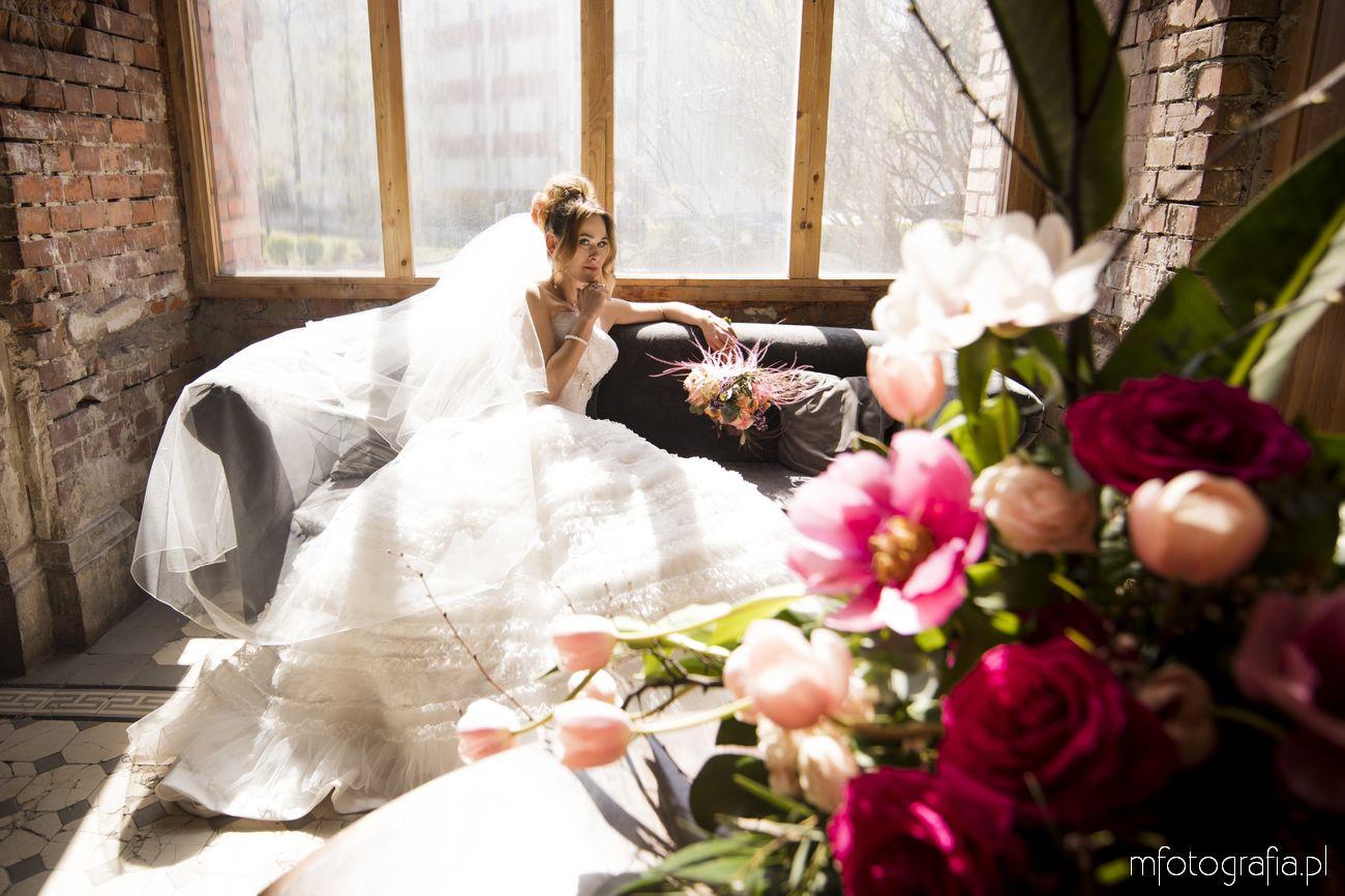 Kwiaty ślubne Warszawianki sesja