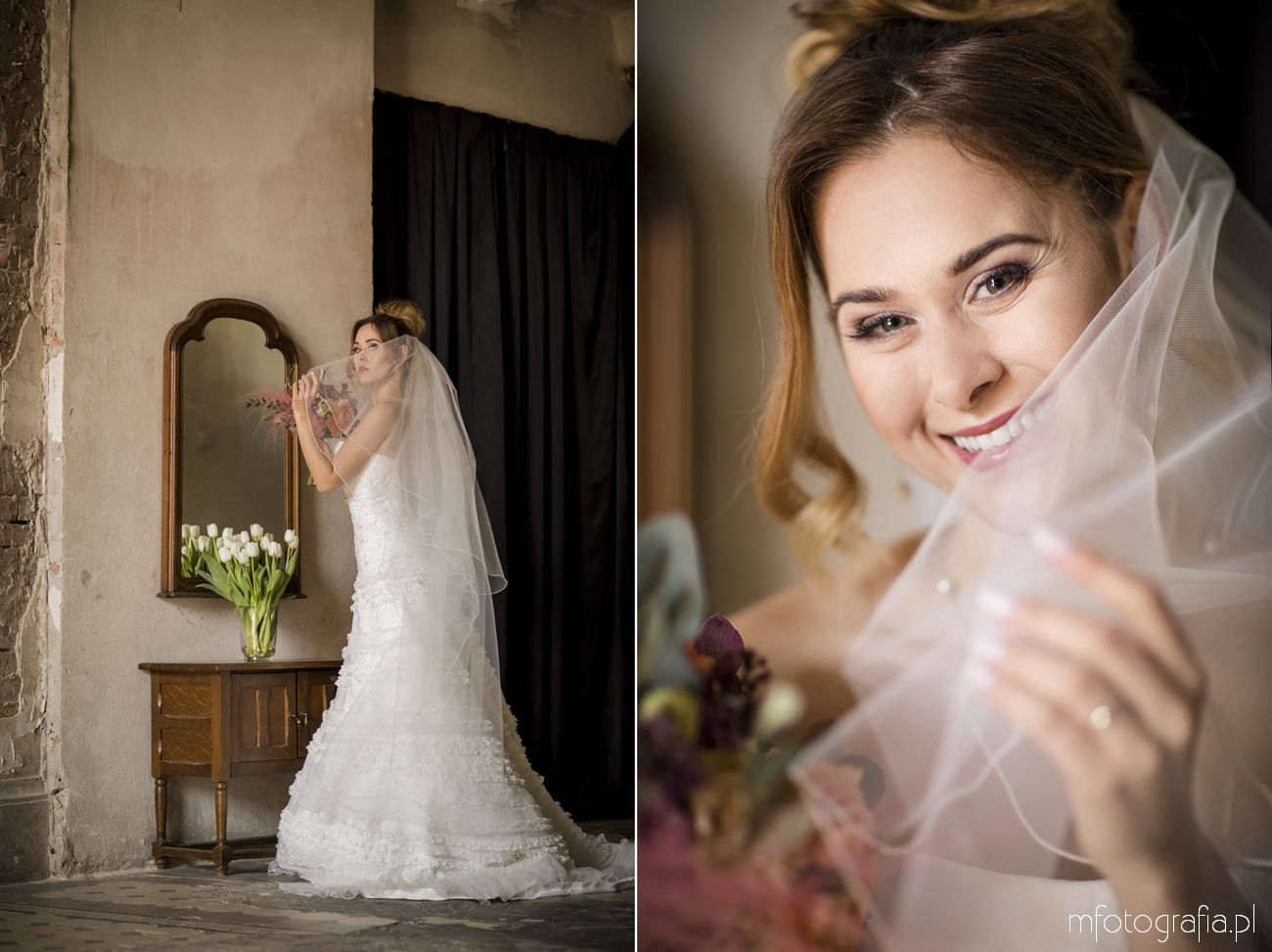 Uśmiech Panny Młodej na portrecie