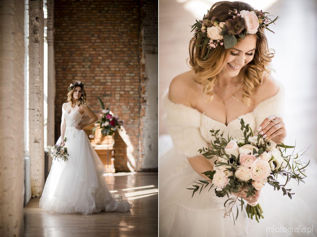 Lekka suknia ślubna w stylu boho