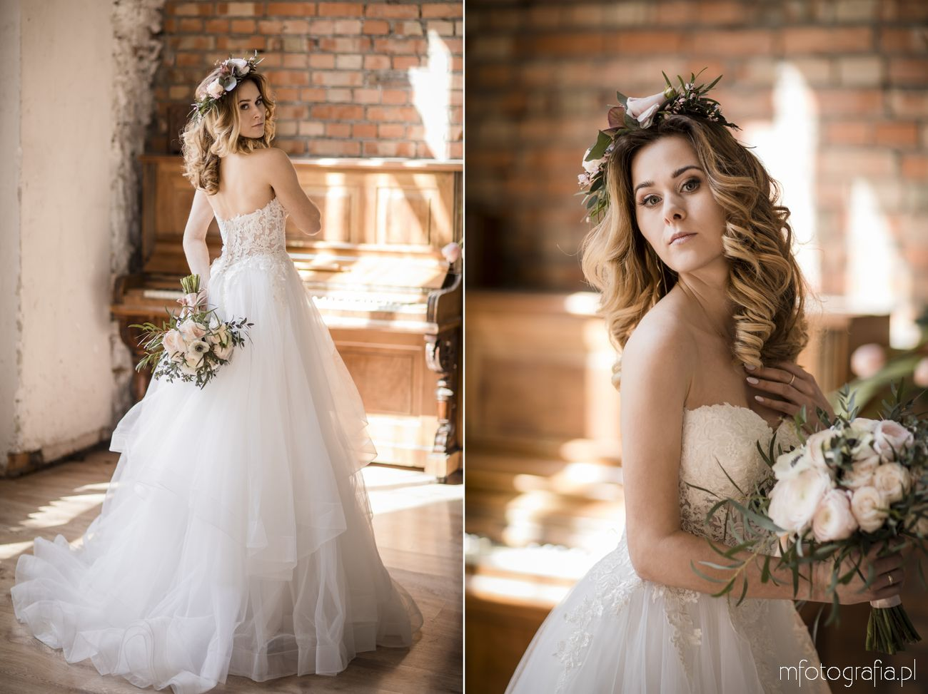 Inspirujący wianek ślubny w stylu romantycznym